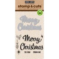 Hero Arts - Dies and Clear Photopolymer Stamp Set - Merry Christmas Script