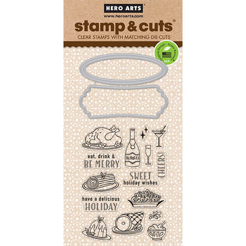 Hero Arts - Die and Clear Photopolymer Stamp Set - Holiday Meal