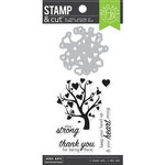 Hero Arts - Die and Clear Photopolymer Stamps - Heart Tree