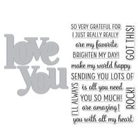 Hero Arts - Die and Clear Photopolymer Stamp Set - Love You