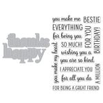Hero Arts - Die and Clear Photopolymer Stamp Set - Happy Thanks