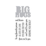 Hero Arts - Die and Clear Photopolymer Stamp Set - Big Hugs