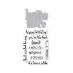 Hero Arts - Die and Clear Photopolymer Stamp Set - Hello There