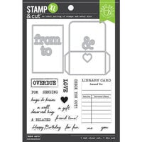 Hero Arts - Die and Clear Photopolymer Stamp Set - Library Card