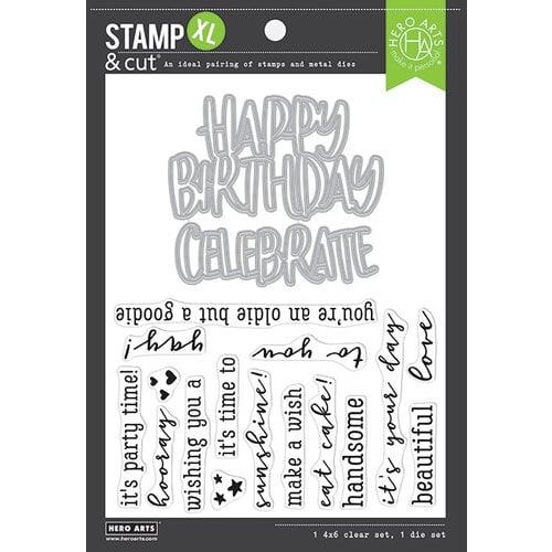 Hero Arts - Die and Clear Photopolymer Stamp Set - Birthday XL