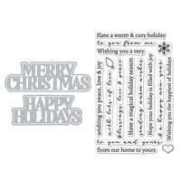 Hero Arts - Die and Clear Photopolymer Stamp Set - Christmas Holidays