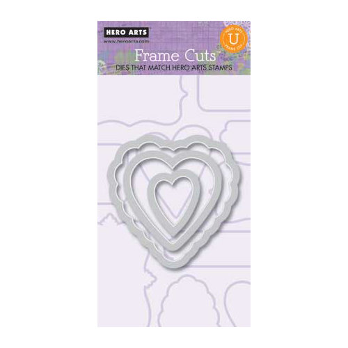 Hero Arts - Frame Cuts - Die Cutting Template - Layered Hearts