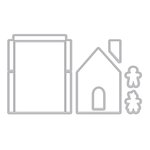 Hero Arts - Lia Griffith Collection - Christmas - Die Cutting Template - Gingerbread House