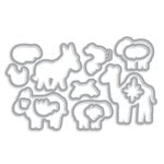 Hero Arts - Frame Cuts - Die Cutting Template - Animal Blessings
