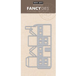 Hero Arts - Trend Collection - Fancy Dies - Die Cutting Template - 3 Dimensional Two-Story House