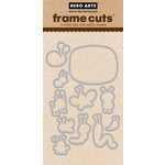 Hero Arts - Critters Collection - Frame Cuts - Die Cutting Template - Lunch Box Notes