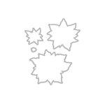 Hero Arts - Frame Cuts - Dies - Paper Layering Antique Poinsettia