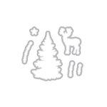 Hero Arts - Christmas - Frame Cuts - Dies - Color Layering Snowy Tree