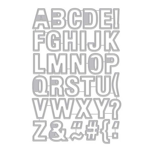 Alphabet Tag hero arts everyday luggage tag alphabet frame cuts dies