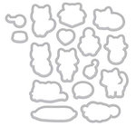 Hero Arts - Friendly Critters Collection - Frame Cuts - Dies - Purr