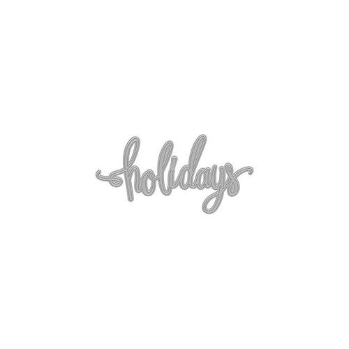 Hero Arts- Season of Wonder Collection - Christmas - Fancy Dies - Holidays Word