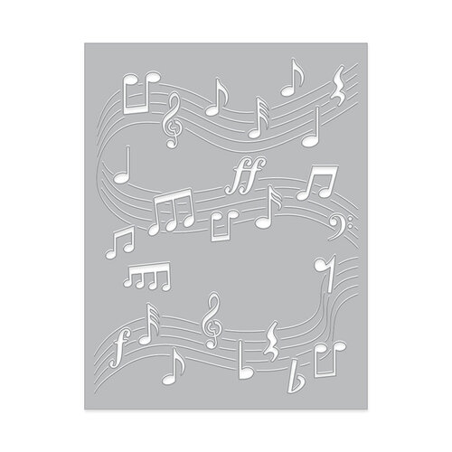 Hero Arts - Fancy Dies - Dancing Music Notes Confetti