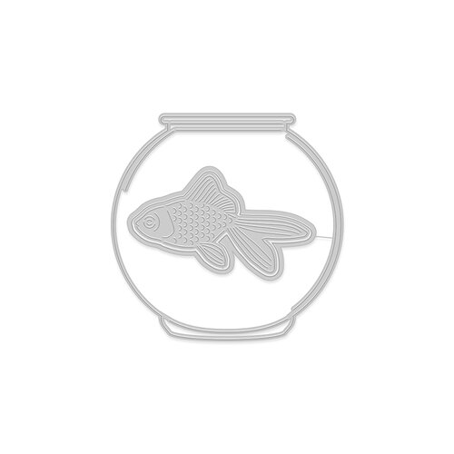 Hero Arts - Frame Cuts - Paper Layering Goldfish in Bowl