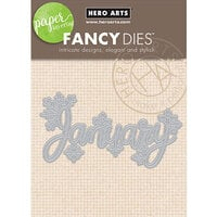 Hero Arts - Fancy Dies - January Word