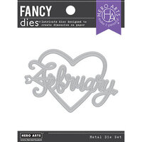 Hero Arts - Fancy Dies - February Word