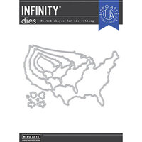 Hero Arts - Dies - United States Map Infinity Dies