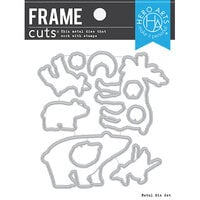 Hero Arts - Frame Cuts - Dies - Fuzzy Winter Animals