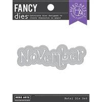 Hero Arts - Fancy Dies - November Word