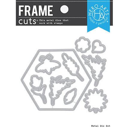 Hero Arts - Frame Cuts - Dies - Bee and Flowers Wreath