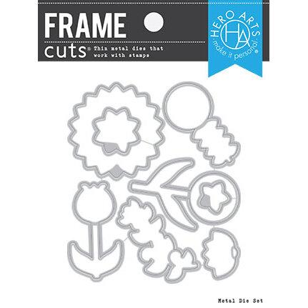 Hero Arts - Dies - Frame Cuts - Line Art Flowers