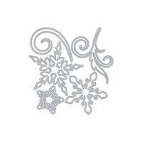 Hero Arts - Christmas - Fancy Dies - Large Snowflakes and Swirls