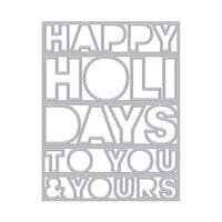 Hero Arts - Christmas - Fancy Dies - Happy Holidays Cover Plate