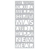 Hero Arts - Fancy Dies - Slimline - Christmas and New Year Cover Plate