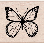 Hero Arts - Woodblock - Wood Mounted Stamps - Traditional Butterfly, BRAND NEW