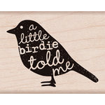 Hero Arts - Wood Block - Wood Mounted Stamp - Birdie Told Me