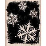 Hero Arts - Woodblock - Christmas - Wood Mounted Stamps - Night Snowflakes