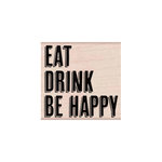 Hero Arts - Woodblock - Halloween - Wood Mounted Stamps - Eat Drink Be Happy