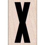 Hero Arts - Woodblock - Wood Mounted Stamps - Sans Serif X