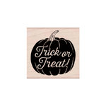 Hero Arts - Woodblock - Halloween - Wood Mounted Stamps - Trick or Treat Pumpkin