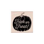 Hero Arts - Woodblock - Halloween - Wood Mounted Stamps - Trick or Treat Pumpkin