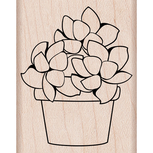 Hero Arts - Spring Collection - Woodblock - Wood Mounted Stamps - Small Potted Succulent