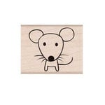 Hero Arts - Friendly Critters Collection - Woodblock - Wood Mounted Stamps - Mouse