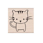 Hero Arts - Friendly Critters Collection - Woodblock - Wood Mounted Stamps - Meow