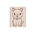 Hero Arts - Friendly Critters Collection - Woodblock - Wood Mounted Stamps - Excited Puppy