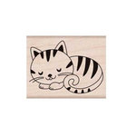 Hero Arts - Friendly Critters Collection - Woodblock - Wood Mounted Stamps - Sleeping Kitty