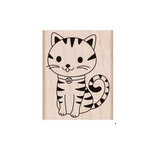 Hero Arts - Friendly Critters Collection - Woodblock - Wood Mounted Stamps - Purring Kitty