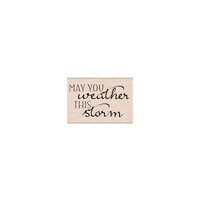 Hero Arts - Woodblock - Wood Mounted Stamps - May You Weather This Storm