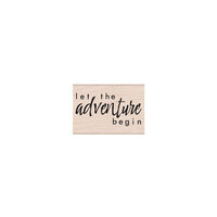 Hero Arts - Woodblock - Wood Mounted Stamps - Let the Adventure Begin