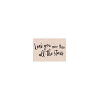 Hero Arts - Woodblock - Wood Mounted Stamps - Love You More Than All of the Stars