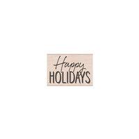 Hero Arts Woodblock - Wood Mounted Stamps - Happy Holidays Mixed Font