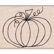 Hero Arts - Woodblock - Wood Mounted Stamps - Traditional Pumpkin